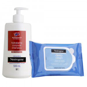 Kit Neutrogena Norwegian Body 500mL +Deep Clean c/7 Lenços