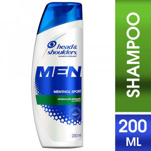 Shampoo Head e Shoulders Anticaspa Menthol Sport Men 200mL