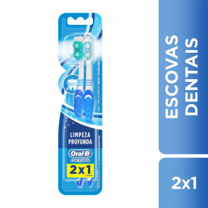 Kit c/2 Escovas Dentais Oral-B Complete Macia 40