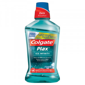 Enxaguante Bucal Antisséptico Colgate Plax Ice Inf Men 500mL