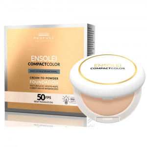 Ensolei Compact Color Base UV Cor Bege Translúcido FPS50 10g