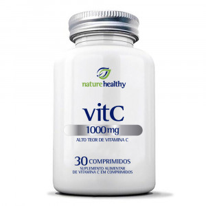 Vitamina C Nature Healthy 1000mg 30 Comprimidos Mastigáveis
