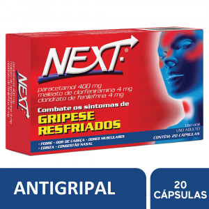 Next Antigripal 400mg c/20 Cápsulas