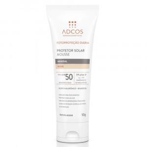 Protetor Solar Adcos Mousse Mineral Tonaliz Nude FPS50 50g