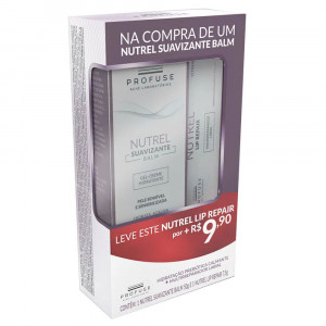 Kit Nutrel Suavizante Gel Creme Facial+Nutrel Lip Repair 7,5g