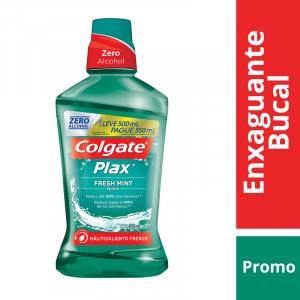 Enxaguante Bucal Antisséptico Colgate Plax Fresh Mint 500mL