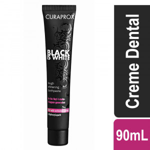 Creme Dental Suiço Curaprox Black is White Preto 90mL